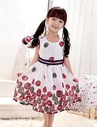 impresión de la flor de la muchacha de dos capas sundress de la fiesta de cumpleaños de los niños del desfile de vestidos de princesa de la ropa