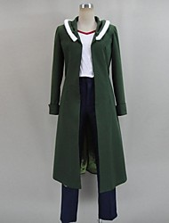 Inspired by Akame Ga Kill! Cosplay Anime Cosplay Costumes Cosplay Suits Patchwork Green Long SleeveCoat / T-shirt / Pants / Headpiece /