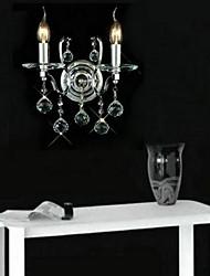parede de cristal lâmpada dupla
