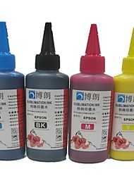 encre de sublimation 100ml de recharge d'encre compatible epson (4 couleurs 1 lot)