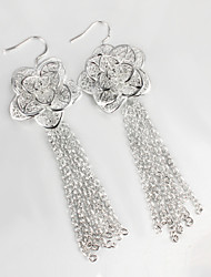 Moon Women's Statement Stacked Flowers Earrings
