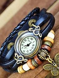 Women's Watch Elliptical Dial Leather Band Quartz Bracelet Watch (Assorted Colors)
