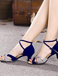 Zapatos de baile (Negro/Azul) - Danza latina - No Personalizable - Tacón Cubano