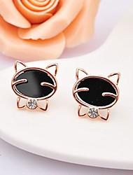 Kinder/Damen Ohrring Legierung Strass Stud Earrings