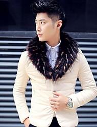 skymoto® casaco de pele gola de algodão dos homens (mais cores)