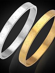 U7® Women's Lucky Tous Bears 316L Stainless Steel Cuff Bracelet Bangles