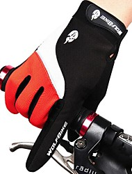 Glove Cycling / Bike All / Men's Full-finger Gloves Waterproof / Protective / Windproof / Anti-skidding / Keep Warm / BreathableAutumn /