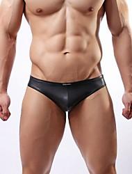 Men's Patent Leather Briefs