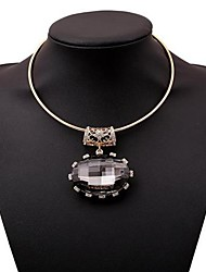 Women's Fashion Cut Out Set Auger Alloy Necklace