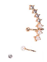 Pearl Crystal Ear Cuff