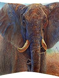 twopages® padrão vívido elefante algodão / linho capa de travesseiro decorativo