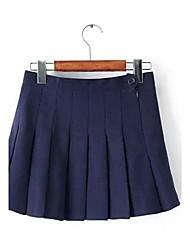 falda alta de la cintura de las mujeres de tweed helados ™