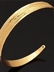 pulseras u7® brazaletes para los hombres / las mujeres de moda oro verdadero 18k plateó estilo simple pulsera de la vendimia