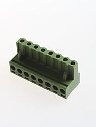 8p plug-in do terminal 300v10a conector espaçamento 5,08 milímetros (10 unid)