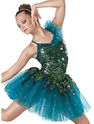 Ballet Dance Dancewear Adults' Children's Peacock Sequin Ballet Tutu Dress