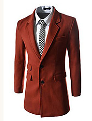 Rate Men's Lapel Neck Thermal Tweed Coat