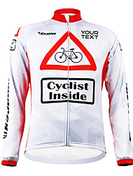 KOOPLUS® Cycling Jersey Women's / Men's / Unisex Long Sleeve Bike Windproof / Waterproof Zipper / Wearable Jersey / Customized Polyester
