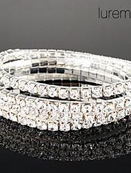 lureme cristaux de lignes simples bijoux bracelet élastique