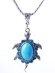 forma de tortuga vendimia lindo collar de la mujer huagudu