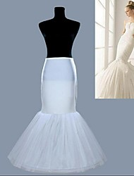New White 1 Hoop Fishtail Mermaid Skirt Wedding Dress Crinoline Petticoat Slips