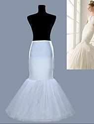 nuevos blancos 1 aro resbalones enagua del vestido de boda de la falda sirena de cola de pescado crinolina