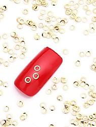 500pcs or cercle d'or alliage de nail art tranche métallique pailleté stud ongles bijoux pour la conception des ongles