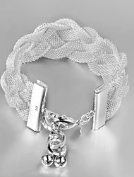 Moon Women's Knited Net Fashion Bracelet