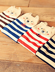 Color Matching Bear Cotton Socks
