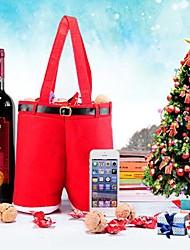 pantalones forma navidad bolsa de regalo vino