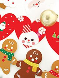 preciosa carpeta tarjetas de Navidad (5 tarjetas + 5 sobre)