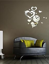 """22 """"h décoration de mariage de style moderne coeurs romantiques 3d bricolage acrylique horloge murale miroir"""