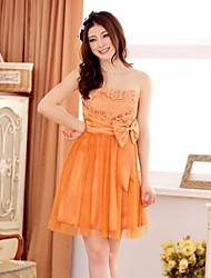 Women's Orange/Purple/Beige Dress , Party Sleeveless