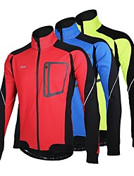 Arsuxeo Men's Cycling Jacket Fleece Warm Winter Thermal Bicycle Windproof Jacket