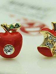 Hot Well Apple Alloy Rhinestone Fashion Earrings(More Color)