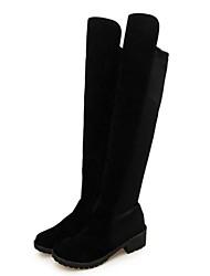 botas de mujer zapatos de moda las botas de alto de rodilla tacón grueso más colores disponibles