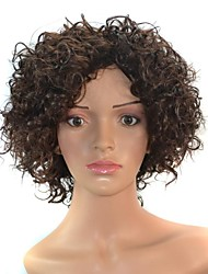 14 Inch Women Black Short Afro Curly Hair Synthetic Wigs