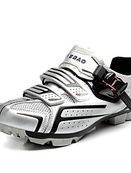 TIEBAO Unisex Mountain Bike Cycling Shoes with Fiberglass Sole and PVC Upper