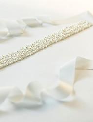 Satin/Bead Wedding/Party/ Evening Sash - Beading Women's Sashes
