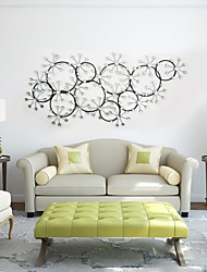 E-HOME® Metal Wall Art Wall Decor, Circular Snow Wall Decor