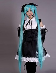 Inspired by Vocaloid Hatsune Miku Video Game Cosplay Costumes Cosplay Suits / Dresses Patchwork Black SleevelessDress / Headpiece /