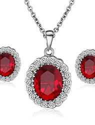 Jewelry-Necklaces / Earrings(Crystal)Wedding / Party / Casual Wedding Gifts