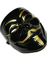 v de bronze populaire pour vendetta masque en plastique pour halloween