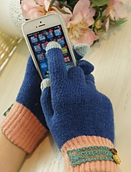 qianjiatian guantes de mujer con pantalla táctil de los teléfonos móviles a-14006 (entrega al azar)