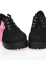negro plataforma de 5 cm de cuero de la PU zapatos dulce lolita