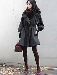 Women's Coats & Jackets , Wool Casual Long Sleeve Rebecca