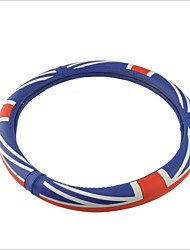 38CM Car British Flag Pattern Silicone Steering Wheel Cover