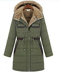 Samantha Women's New European Cotton Slim Thickening Large Yard Coat