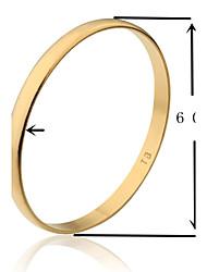 6 centímetros de largura tb ouro liso chapeado tamanho da pulseira de ouro s (1 peça)