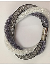 2015 Magnetic Stardust Clasp Crystal in Net Mesh Bracelets Christmas Gifts