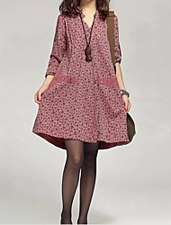Maternity's Fashion Loose Long Sleeved Dress